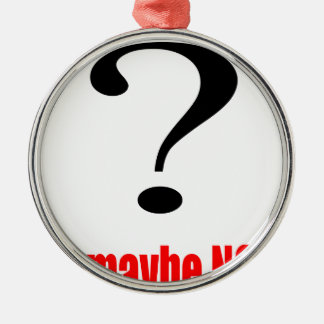 maybe suggestion afraid possibility red note marry Silver-Colored round ornament