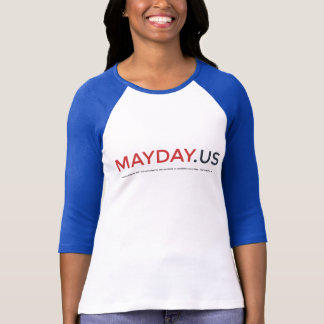MAYDAY Ladies 3/4 Sleeve Raglan (Fitted) Shirt