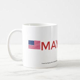 MAYDAY Logo & American Flag Cup