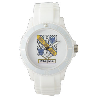 Mayes Family Crest Wrist Watches