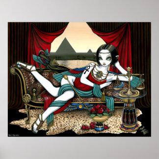 """Mayet"" Egyptian Goddess Pyramid Angel Poster"