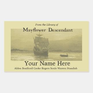 Mayflower Bookplate Sticker