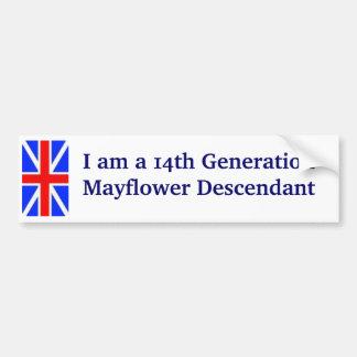Mayflower Descendant -14th Bumper Sticker