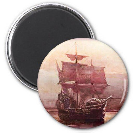 Mayflower in the Hudson Harbor Magnet