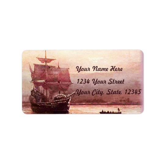 Mayflower in the Hudson Harbour Address Labels