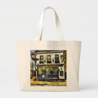 Mayflower Pub London Van Gogh Large Tote Bag
