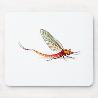 Mayfly vector mouse pad