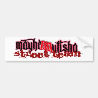 mayhem2, équipe de rue autocollant de voiture