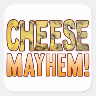 Mayhem Blue Cheese Square Sticker
