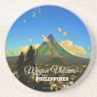 "Mayon Volcano, Albay Philippines ""3d"" Coaster"