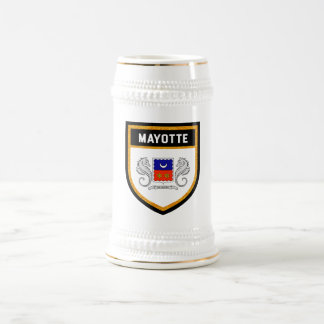 Mayotte Flag Beer Stein