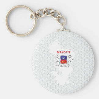 Mayotte Flag Map full size Keychain