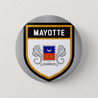 Mayotte Flag unique modern cool texture col 2 Inch Round Button