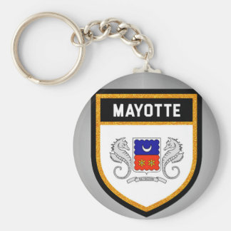 Mayotte Flag unique modern cool texture col Keychain