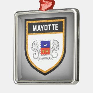 Mayotte Flag unique modern cool texture col Metal Ornament