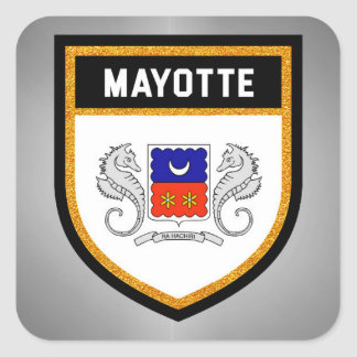 Mayotte Flag unique modern cool texture col Square Sticker