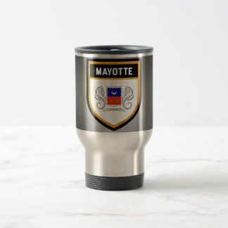 Mayotte Flag unique modern cool texture col Travel Mug