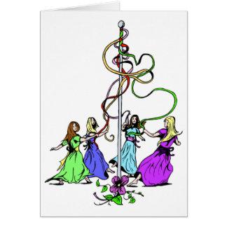 Maypole Dancers Card