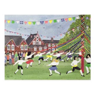 Maypole Dancing 1991 Postcard