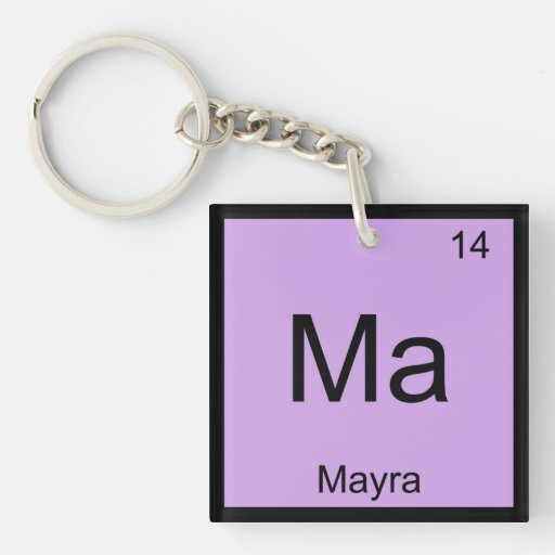 Mayra Name Chemistry Element Periodic Table Keychain
