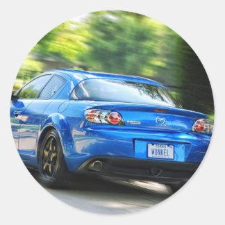 Mazda RX-7 Round Stickers