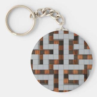 Maze-33r Basic Round Button Keychain