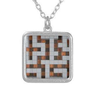 Maze-33r Silver Plated Necklace
