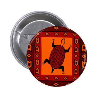 maze-back-turtle 2 inch round button