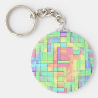 Maze Basic Round Button Keychain