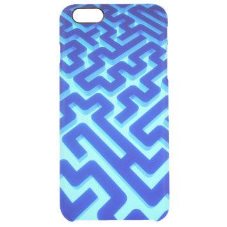Maze Blue Clear iPhone 6 Plus Case
