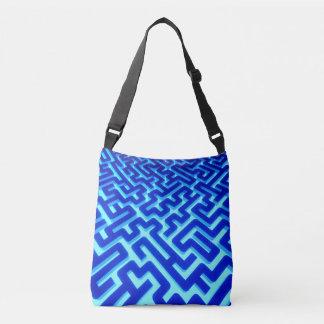 Maze Blue Crossbody Bag