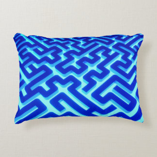 Maze Blue Decorative Pillow