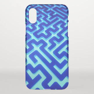 Maze Blue iPhone X Case