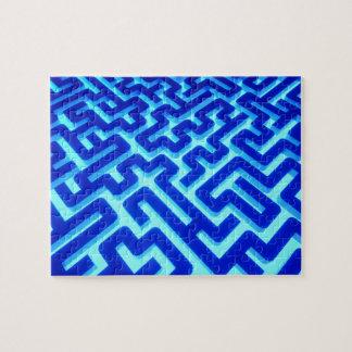 Maze Blue Jigsaw Puzzle