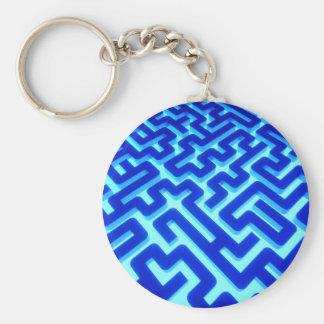 Maze Blue Keychain