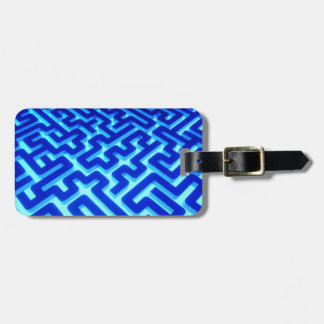 Maze Blue Luggage Tag