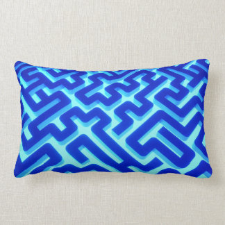 Maze Blue Lumbar Pillow