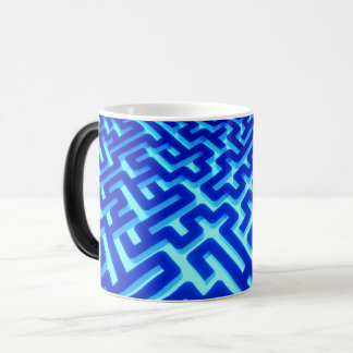 Maze Blue Magic Mug