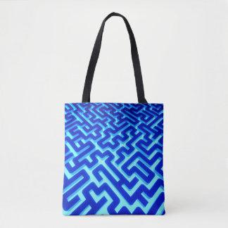 Maze Blue Tote Bag