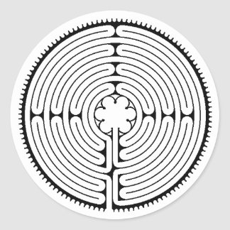 maze, Chartres Labyrinth, Sticker