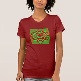 Maze Fashion Shirt - Women- Orange/Green/Red