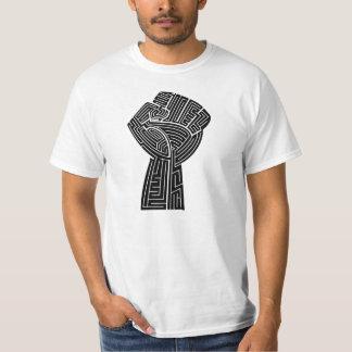 Maze Life Blk Power Fist Mens T-Shirt