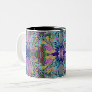 Maze of colors Two-Tone coffee mug
