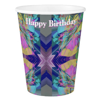 Maze of Colors with Your Text Paper Cup