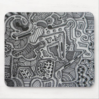 Maze of Lines Mouse Pad