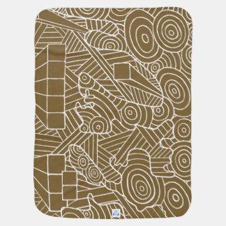 Maze of map - baby blanket original travel map