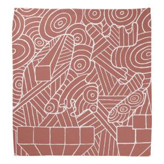 Maze of map bandana with cute doodle pattern art