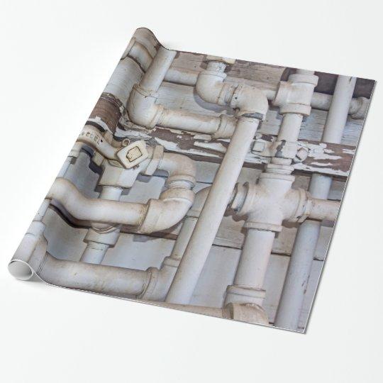Maze of Metal Plumbing Pipes