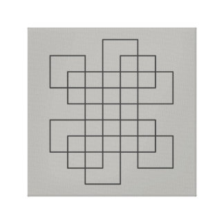 Maze on Grey Canvas Print