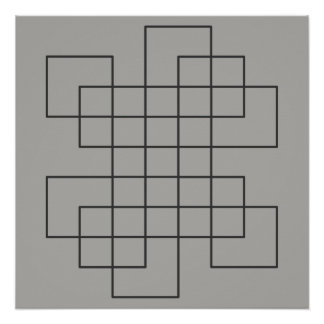 Maze on Grey Poster